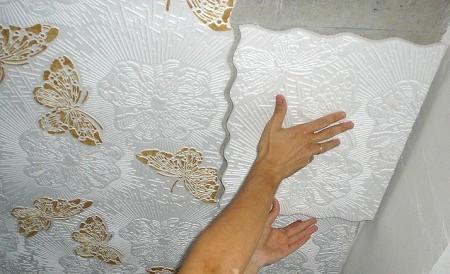 Потолок своими руками из плитки фото