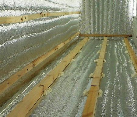 Утепление стен вспененным полиэтиленом своими руками