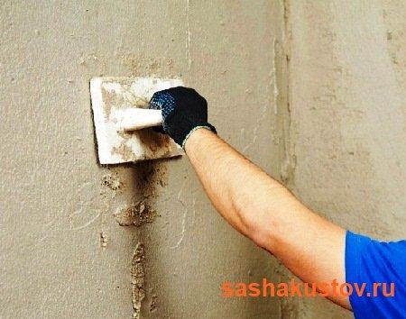 Штукатурка стен цементно песчаным раствором своими руками 40
