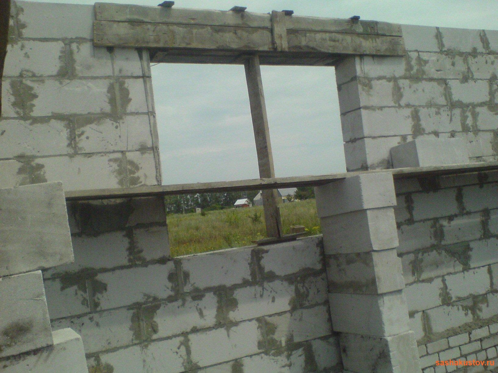 Перемычки над окнами в доме из газобетона своими руками чертежи и фото