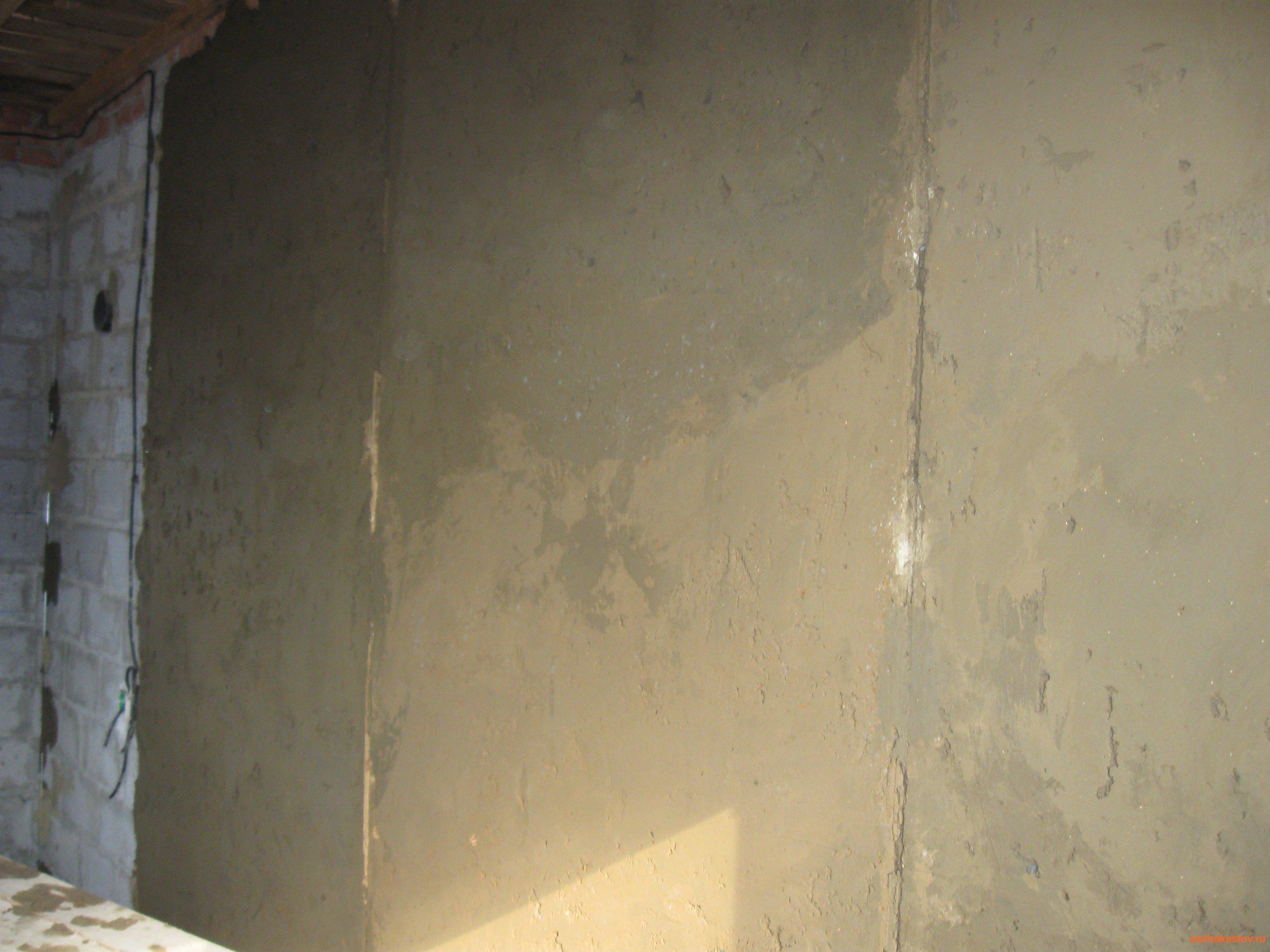 Штукатурка стен из пеноблока своими руками по маяками