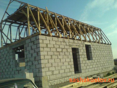 Крыша своими руками газоблок мансарда