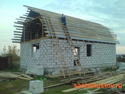 Строим 2х этажный дом из газобетона своими руками